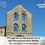 cártel Apertura de monumentos verano 2021