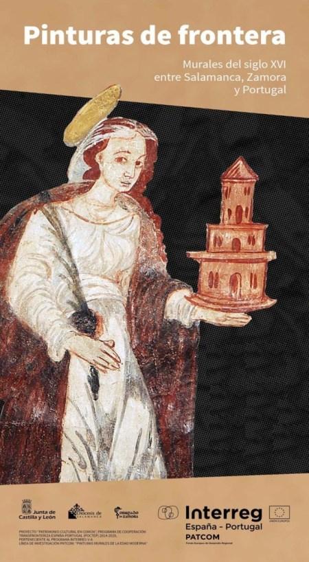 muestra de las pinturas murales de frontera del siglo XVI
