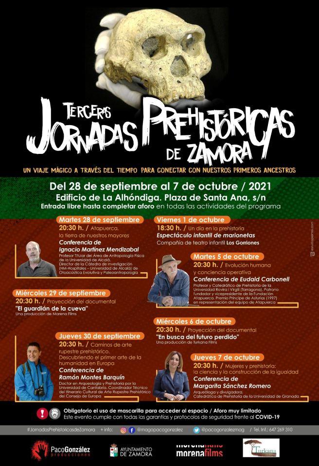Cartel Jornadas Prehistoricas Zamora 2021