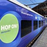 El tren Connecting Europe Express llega a la Estación de Príncipe Pío