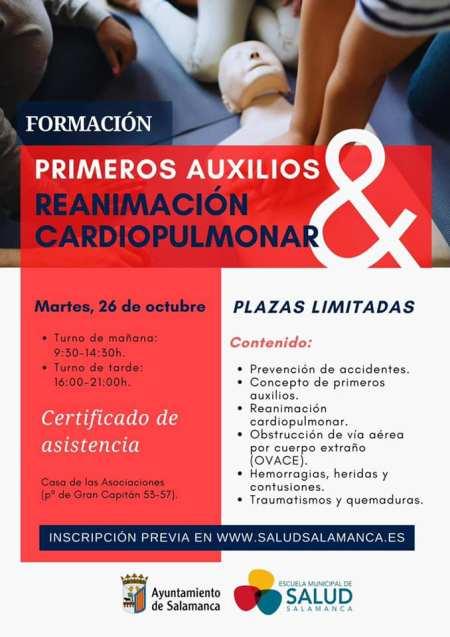 cursos de primeros auxilios y reanimación cardiopulmonar