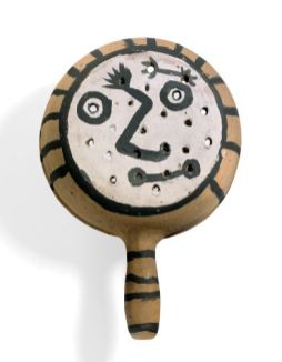 Picasso visage homme visage femme 1950 verso