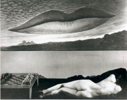 Man Ray, A l'heure de l'observatoire ,les amoureux, 1934