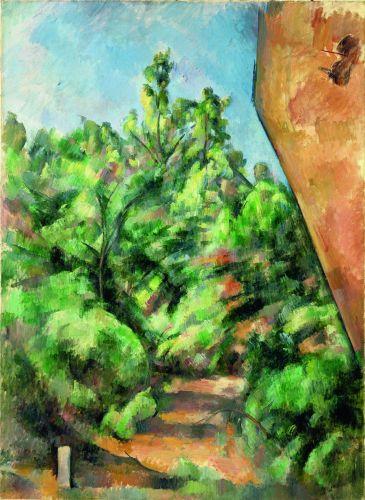 Paul Cézanne, Le Rocher rouge, 1895-1900. Huile sur toile, 92 x 68 cm Paris, musée de l'Orangerie © RMN-Grand Palais (Musée de l'Orangerie) / Hervé Lewandowski