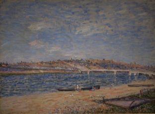Alfred Sisley – La Berge à Saint- Mammès, 1884 – Huile sur toile Collection David et Ezra Nahmad