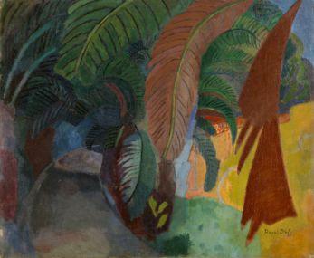 Raoul Dufy, Les Palmiers ou hommage à Gauguin, 1908