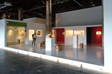 Vue de l'exposition Le Corbusier et la question du brutalisme - La Matière