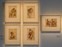 Le Corbusier, Deux femmes debout enlacées, vers 1926-28, Femme se tenant les seins, vers 1926-28, Deux femmes assises enlacées, vers 1932-34