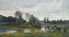 Corot, Ville d'Avray, l'abreuvoir des chevaux, ca
