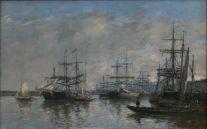 Eugène Boudin, Bordeaux, le port, 1874