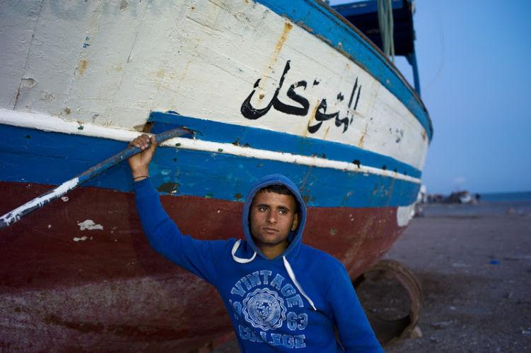 Expositon Mare Mater, Ali, candidat au départ, Zarzis,Tunisie, 2011 ©Patrick Zacmann-Magnum Photos