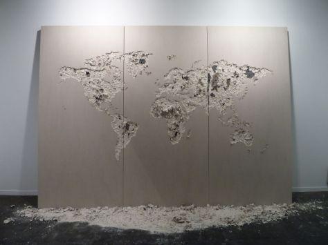 Jean Denant. Mappemonde, 2011