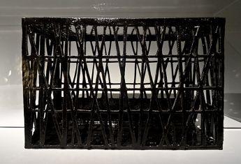 Danilo Trogu, Le Pavillon noir, maquette en terre cuite emaillée, 2012