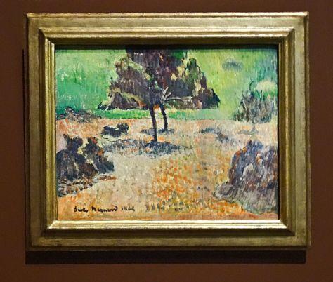 Emile Bernand, Arbres, 1888. Huile sur platre. 33 x 41 cm. Van Gogh Museum, Amsterdam.