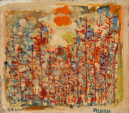 Roger Bissière, 20 août 1963 (journal en image), collection particulière, Paris © Jean-Louis Losi, Paris © ADAGP Paris 2014