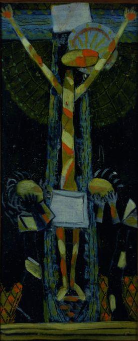 Roger Bissière, Crucifixion II, 1937, Collection particulière, Paris © Adam Rzepka © ADAGP Paris 2014