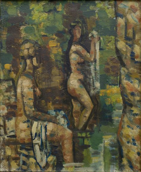 Roger Bissière, Deux Nus, 1927-1928, Musée des Beaux-arts de Bordeaux © Mairie de Bordeaux, cliché F. Deval © ADAGP Paris 2014