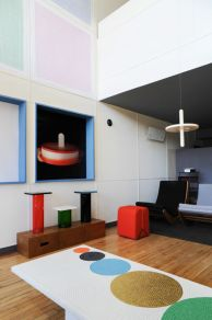 Pierre Charpin, Appartement n°50 - Vue du séjour. © P. Savoir & Fondation Le Corbusier / ADAGP