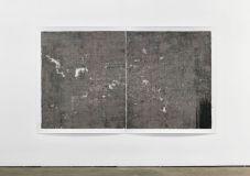 Patrice PANTIN, empreinte de sable sur papier incisé, 2012, encre sur papier incisé, 172 x 280cm