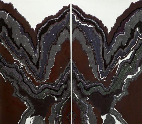 Abdelkader Benchamma, Rorschach in Marble X (détail), 2014