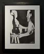 Picasso, Sable mouvant, aquatinte