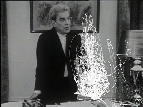 Pierre Bismuth, En suivant la main gauche de Jacques Lacan - L'âme et l'inconscient, 2010. Vidéo, 04:59, dvd. Courtesy de l'artiste.