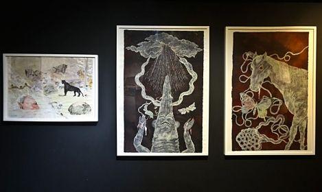 Hamadaraka (Eru et Emu Arizono), dessins originaux - Heta-Uma, MIAM, Sète, 2014