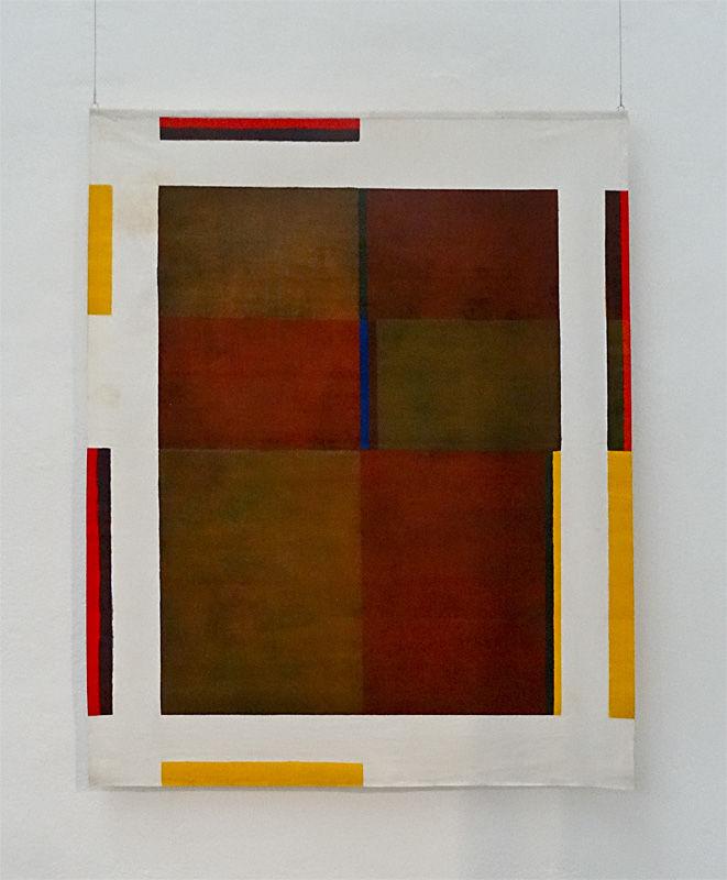 Albert Ayme,Paradigme du bleu-jaune-rouge, Acrylique sur coton non tendu, 137 x 175 cm, Achat de la Ville, 1980 - Musée Fabre, 2014