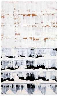 Jacques Clauzel, Circa 1998, acrylique sur papier kraft plié et usé, 32 x 19 cm