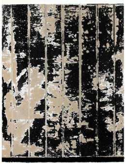 Jacques Clauzel, septembre 1996, acrylique sur papier kraft et carton, poncés, usés et marouflés sur panneau aggloméré, 40 x 30 cm