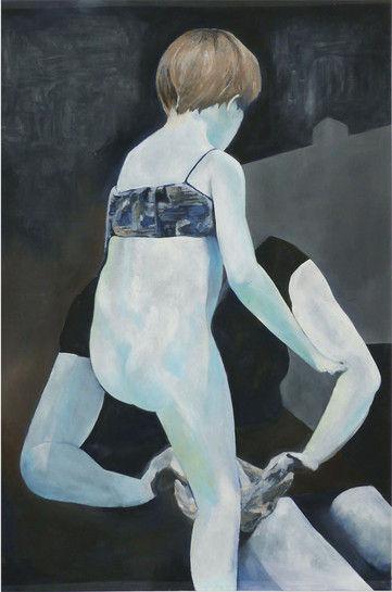 Mélanie Lefebvre, Back, huile sur toile, 230x150cm