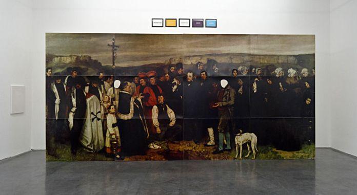 Gérard Collin-Thiébaut, Gustave Courbet, Un enterrement à Ornans, 1997