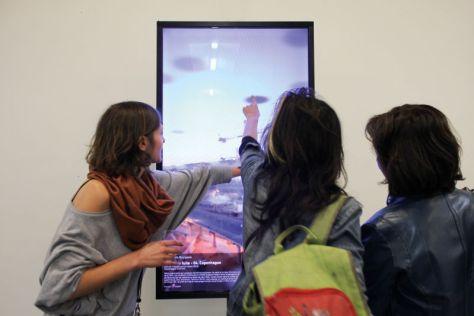 FA-Marseille-exposition Fenêtre augmentée, Friche Belle de Mai / Zinc, Marseille, 2013 - © Thierry Fournier et les artistes 2011-2015