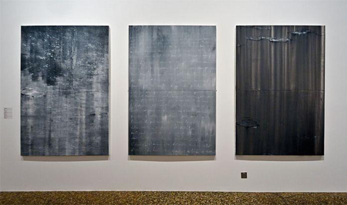 Patrice Palacio Nymphéas 1, é et 3, huile sur toile, 195 x 130 cm. Collection de l'artiste.