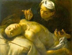 Francesco Caïro Saint Sébastien soigné par sainte Irène, vers 1635