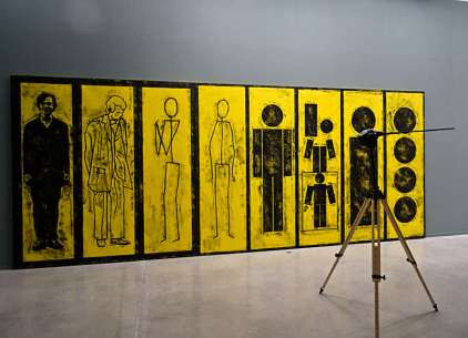 Matt Mullican, Untitled (Evolution of man) et Benoir Maire, le Nez