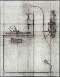 Konrad Klapheck, dessin prÉparatoire pour «le sacrifice», «das Opfer», 1989