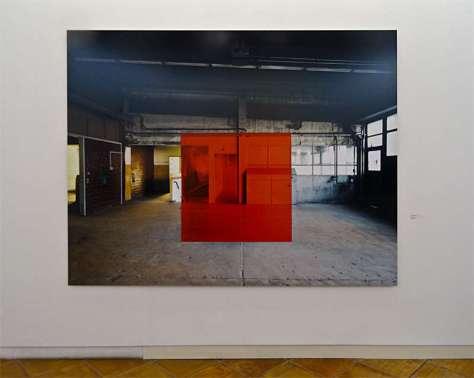 Georges Rousse, Luxembourg 2006. Tirage Lambda à partir d'Ektachrome. 180x240 cm - « Collectionneur d'espaces » à Campredon
