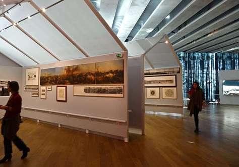 J'aime les panoramas (Le panorama comme relevé), Vue de l'exposition au MuCEM, 2015