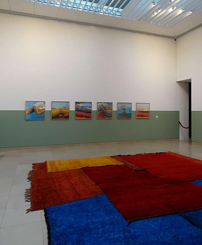 Yto Barrada, Échelle des temps géologiques et panneaux éducatifs, « Faux guide », Carré d'Art - 2015-2016
