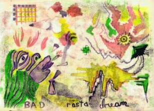Leif GOLDBERG Bad Rasta Dream monotype 33 x 24,57 cm