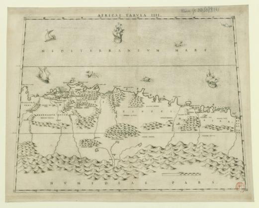 Livio Sanuto, Africae Tabula III extraite de la Geografia, Venise, 1588, carte gravée, 43 X 53,7 cm. Bibliothèque nationale de France © BnF