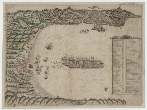 Argel, lieu inconnu, XVIIe siècle, carte manuscrite, 37,8 X 50,9 cm. Bibliothèque nationale de France © BnF