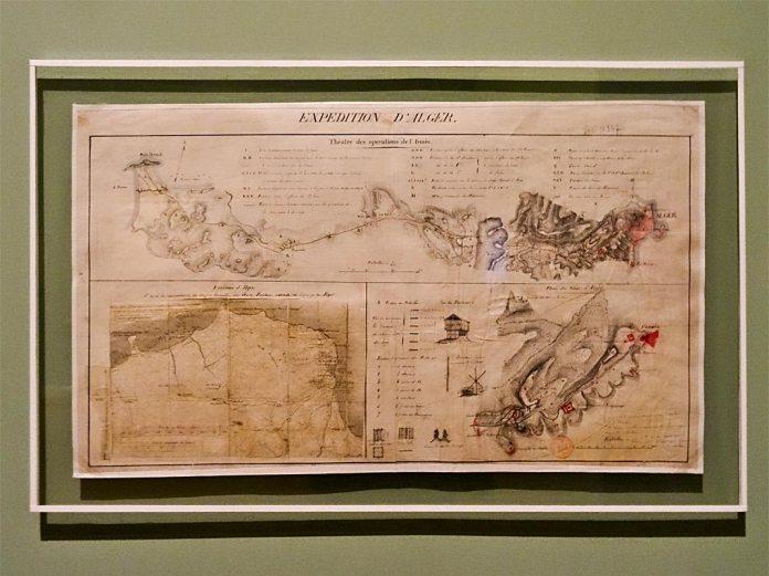Expédition d'Alger, théâtre des opérations de l'armée, 1830 - Made in Algeria au MuCEM