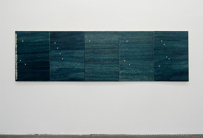 Habile beauté (L'art comme processus) au Frac Languedoc-Roussillon. Alighiero Boetti, Per filo e per segno, 1990