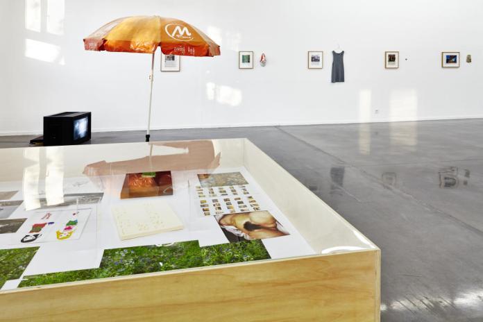 Pierre Joseph, MNEP 1.2.3., 2014 et Benoît Broisat, Les Témoins, 2009-2011 - Se souvenir des Belles Choses, vue de l'exposition, Musée régional d'art contemporain, Sérignan, 2016. Photo JC Lett