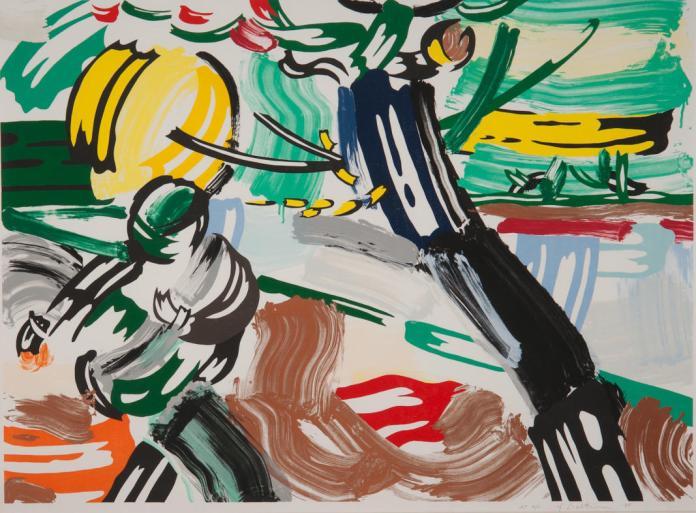Roy Lichtenstein, Le Semeur, 1985 - Exposition Très traits à la Fondation Vincent Van Gogh Arles