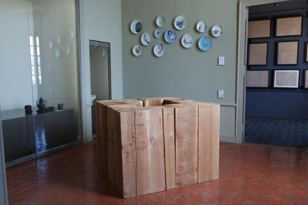 Carl André, Four Hollow Square, 2009. Collection Francis Solet - Les Possédés - chapitre 1 au Château Borély, Marseille
