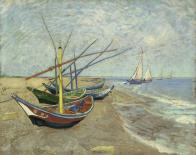 Vincent van Gogh, Bateaux de pêche sur la plage des Saintes-Maries-de-la-Mer, 1888. Huile sur toile, 65 x 81,5 cm Van Gogh Museum, Amsterdam (Vincent van Gogh Foundation)