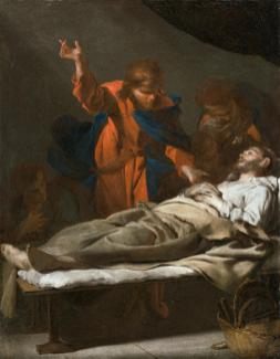 Bernardo Cavallino, La Mort de saint Joseph, Fin des années 1630. Huile sur toile, 46,5 x 36,2 cm